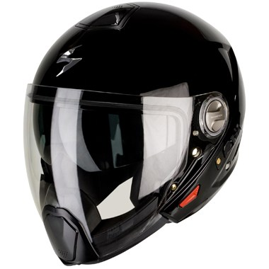 e7b22469 Scorpion Exo 300 Air Crossover Motorcycle Helmet Gloss Black